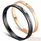 Titanium steel heart bracelet personalized couple bracelet