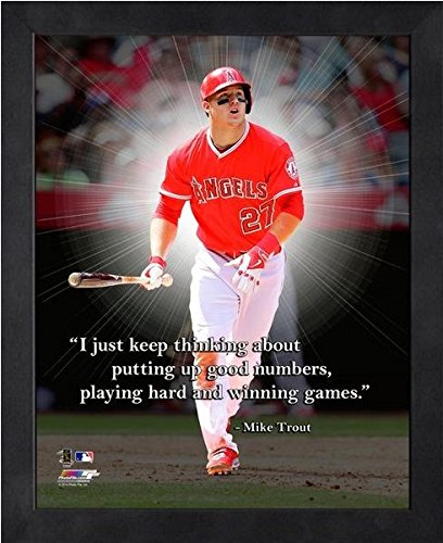 Photograph Angels Angeles Los (Mike Trout Los Angeles Angels Pro Quotes Photo (Size: 9