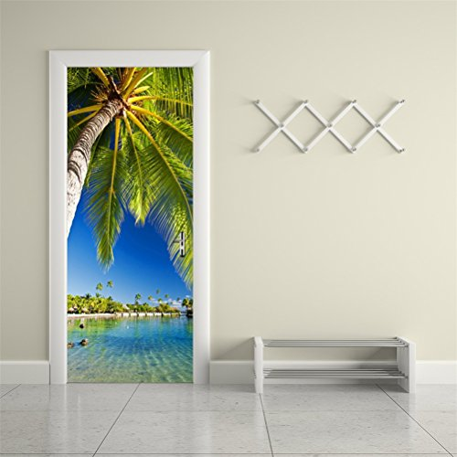 ral Wallpaper Stickers--Palm Tree Vinyl Removable 3D Decals 30.3x78.7