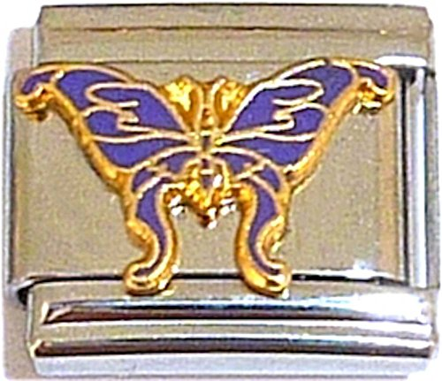 Purple Butterfly Italian Charm ()