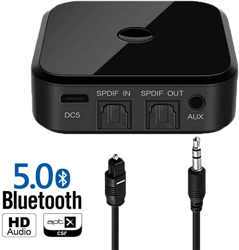 Zeerkeers Receptor y transmisor Bluetooth 5.0, adaptador 2 en 1, adaptador de audio inalámbrico de 3,5 mm para TV PC Home estéreo, altavoces, 2 dispositivos simultáneamente.: Amazon.es: Electrónica