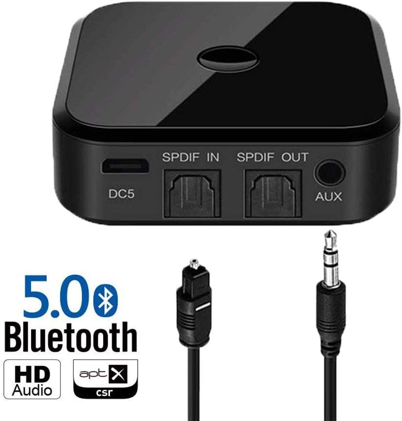 Zeerkeers Receptor y transmisor Bluetooth 5.0, adaptador 2 en 1, adaptador de audio inalámbrico de 3,5 mm para TV PC Home estéreo, altavoces, 2 dispositivos simultáneamente.: Amazon.es: Electrónica