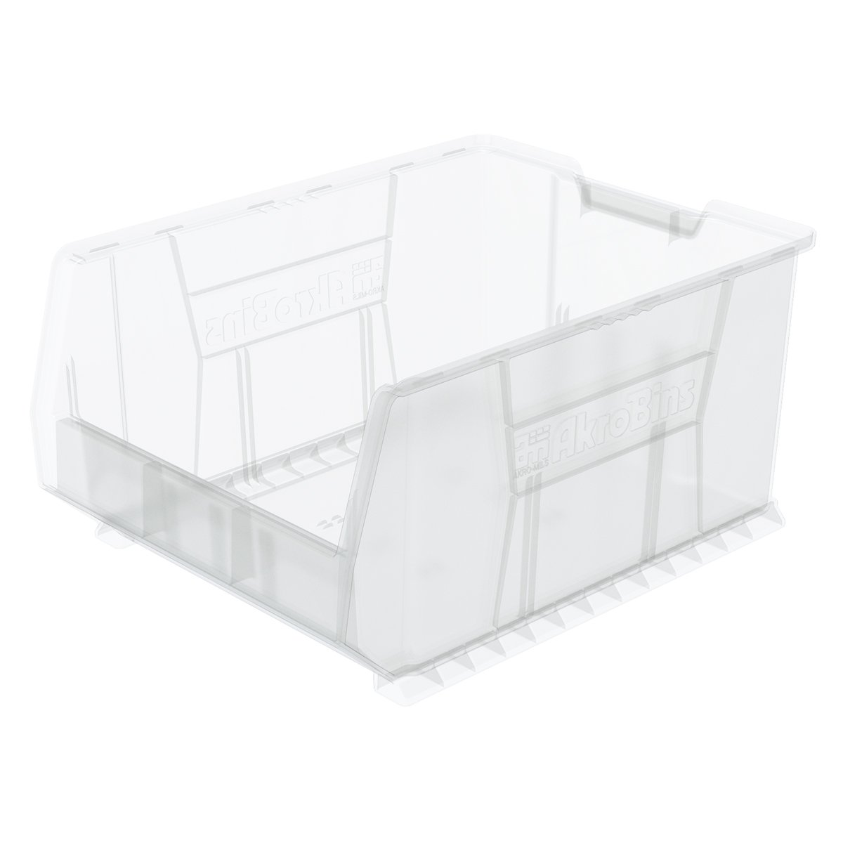 Akro-Mils 30289 24-Inch D by 18-Inch W by 12-Inch H Clear Super Size Plastic Stacking Storage AkroBin