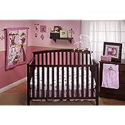 Little Bedding by NoJo 3 Little Monkeys 10 Piece Crib Bedding Set, Girl