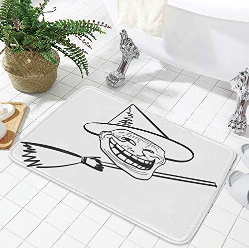 TecBillion Non-Slip Mat,Humor Decor,for Bathroom Kitchen Bedroom,23.62