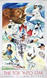 Autographed Carter, Borders, Alomar, Winfield Poster - Toronto Blue Jays