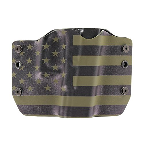 Green & Black USA Flag OWB Holster (Right-Hand, Ruger SP 101)
