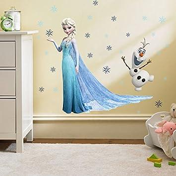 Kibi Adesivi Muro Frozen Camera Da Letto Bambini Adesivo Muro Bambini  Disney Adesivi Murali Cameretta Frozen stickers Muro Frozen Stickers Muro  Elsa ...