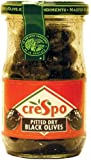 Crespo Pitted Dry Black Olives 110 g (Pack of 6)