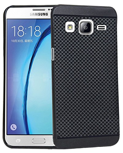 IND OFFER Black Dotted Soft Case Back Cover For Samsung Galaxy On5 / On5 Pro – BLACK (FREE TEMPERED GLASS SCREEN PROTECTOR)