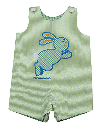 Mulberry Street Reversible Shortall with Bunny-Boy's Size 4T (Reversible Shortall)