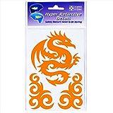 Seward Street Studios Reflective Decals Tribal Dragon Set – Tribal Safety Sticker Kit – Dragon Reflector Stickers (Orange) For Sale