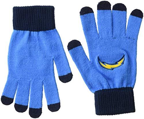異邦人柔らかい足摂動NFL San Diego Chargersソリッドニット手袋、ブルー、1サイズ