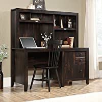 Dakota Pass Computer Desk with Hutch, Char Pine Finish