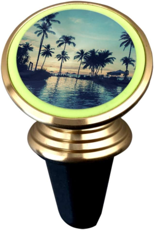 Car Magnetic Mobile Phone Holder 360 ° Rotating Light Car Dashboard Bracket Soft Twilight Amazing Tropical Marine Beach Equipped with Super Magnet