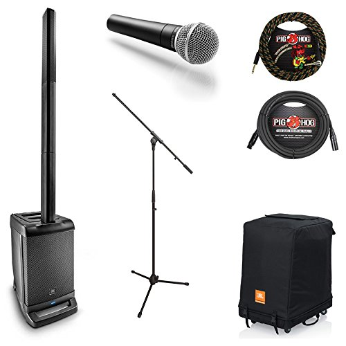 JBL EON ONE PA System w/ Carry Bag & SM58 Mic, Stand & Cables - Bundle