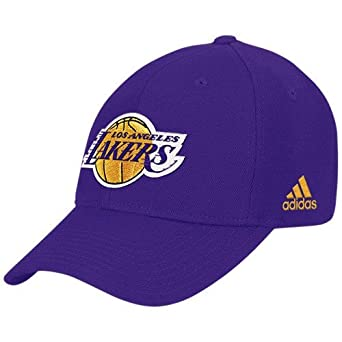 hot sales 51a88 499da Amazon.com  adidas NBA Los Angeles Lakers Purple Basic Logo Wool Hat (Purple,  One Size)  Clothing