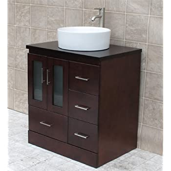 30 bathroom vanity cabinet vessel sink wood top mo3. Black Bedroom Furniture Sets. Home Design Ideas