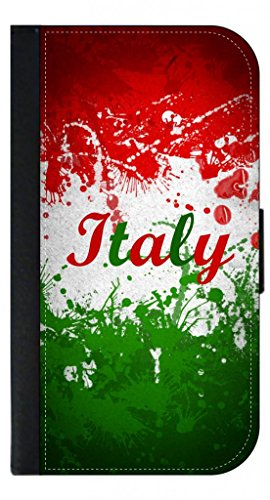 Italian Flag Leather-Look Iphone 6 Plus Wallet Case with Closing Flip Cover and Credit Card Slots - Compatible with the Iphone 6 Plus ONLY (Italian Flag Iphone 6 Plus compare prices)