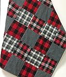 Lumberjack Flannel Baby Quilt Patchwork Buffalo Plaid Handmade
