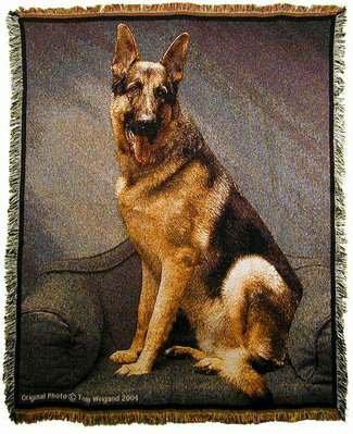 - Mill Street Design Tom Weigand German Shepherd Dog Tapestry Throw