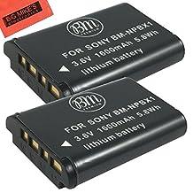BM Premium Pack Of 2 NP-BX1 NP-BX1/M8 Batteries for Sony CyberShot DSC-HX80, HDR-AS50, DSC-RX1, DSC-RX1R, DSC-RX1R II, DSC-RX100, DSC-RX100M II, DSC-RX100 III, DSC-RX100 IV, DSC-H300, DSC-H400, DSC-HX300, DSC-HX50V, DSC-HX60V, DSC-HX80V, DSC-HX90V, DSC-WX300, DSC-WX350, HDR-AS10, HDR-AS15, HDR-AS30V, HDR-AS100V, HDR-AS100VR, HDR-AS200V, HDR-AS200VR, HDR-CX240, HDR-CX405, HDR-CX440, HDR-PJ275, HDR-PJ440, HDR-MV1, FDR-X1000V, FDR-X1000VR Digital Camera