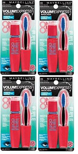 Maybelline VolumExpress Waterproof Mascara Very Black #266 4 Pack