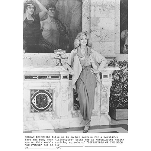Morgan Fairchild 8 inch by 10 inch PHOTOGRAPH The Seduction Flamingo Road Holy Man B&W Pic from Montecatini Health Spa kn