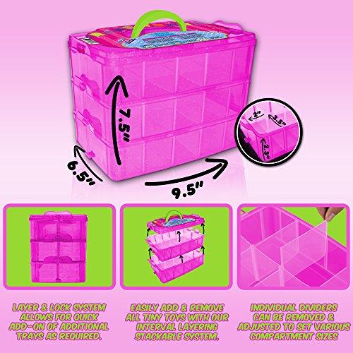 Holds 600 Tiny Toy Box Shopkins Storage Case Organizer