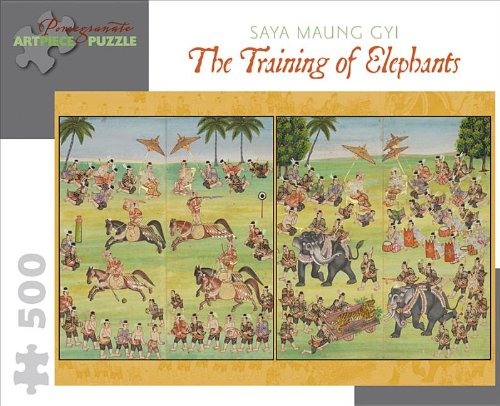 Training of Elephants: 500 Piece Puzzle (Raj Elephant)