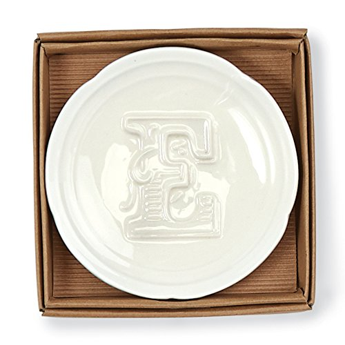 Mud Pie Initial Accessory Dish E
