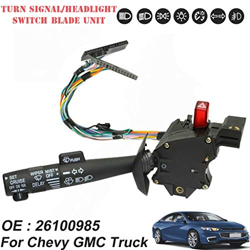 Alelife Cruise Control Windshield Wiper Arm Turn Signal Lever Switch For Chevy GMC Truck ()