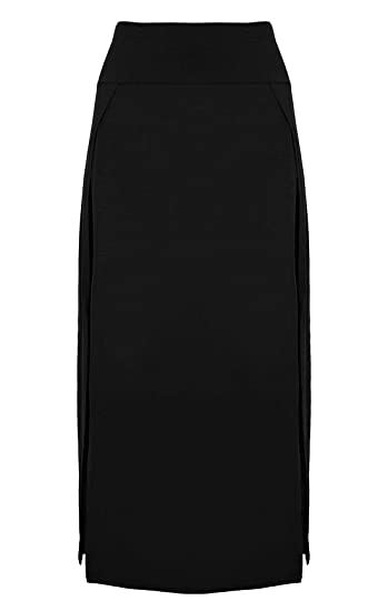Islander Fashions Falda Larga de Doble Abertura con Abertura de ...