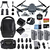 DJI Mavic Pro Fly More Combo Collapsible Quadcopter 3 Batteries, 128gb Memory Card, Charging Hub + Flymore Starter Bundle