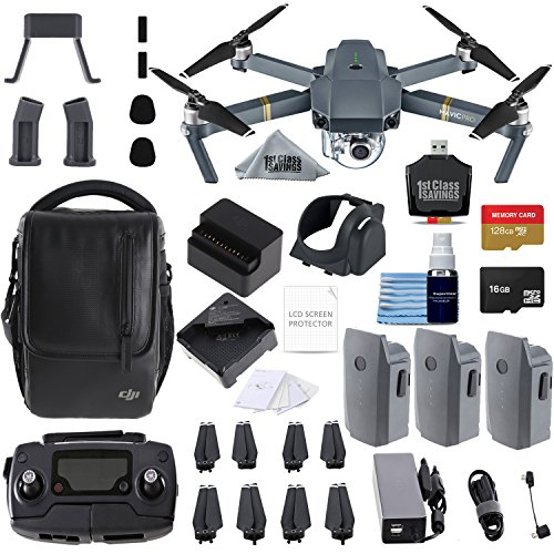 DJI Mavic Pro Fly More Combo Collapsible Quadcopter 3 Batteries, 128gb Memory Card, Charging Hub + Flymore Starter Bundle from 1stClassSavings