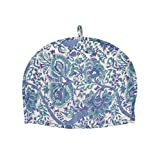 Prominent Cotton White Tea Cosy Hand Block Printed Floral By Rajrang