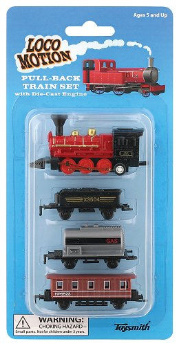 (Toysmith 7041 Mini Pull-Back Train Set (Assorted Styles))