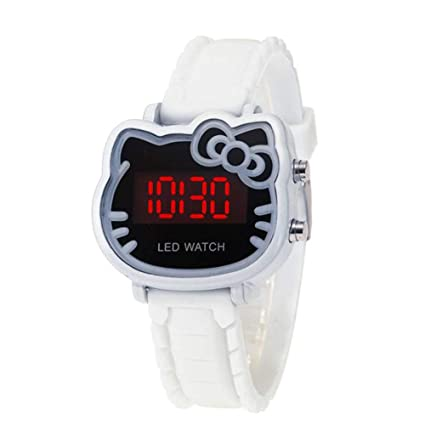 WATCH13579 Reloj Digital electrónico LED Chica de Silicona Chica Moda de Dibujos Animados Animal Pantalla LED