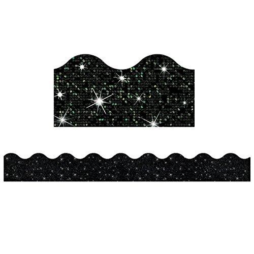 91417BN Black Sparkle Terrific Trimmers, 32.5' Per Pack, 6 Packs ()