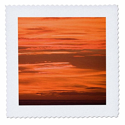 3dRose Danita Delimont - Sunrises - Harbor sunset. Barcelona. Spain. - 20x20 inch quilt square (qs_257876_8) by 3dRose