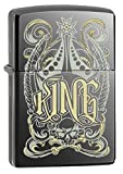 Zippo Pocket Lighter Black Ice King Design Pocket Lighter