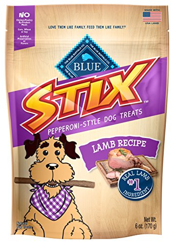 BLUE Stix Lamb Recipe Soft-Moist Dog Treats (1 Pouch), 6 oz