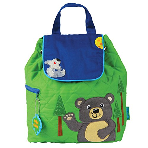 Stephen Joseph Quilted Backpack, Bear