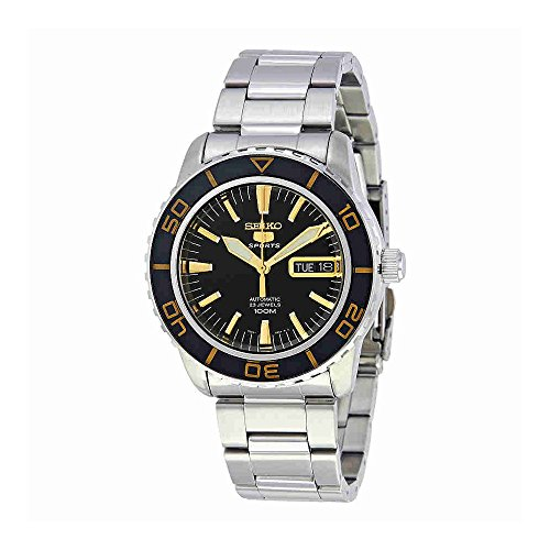 Seiko-Mens-SNZH57-Seiko-5-Automatic-Black-Dial-Stainless-Steel-Watch