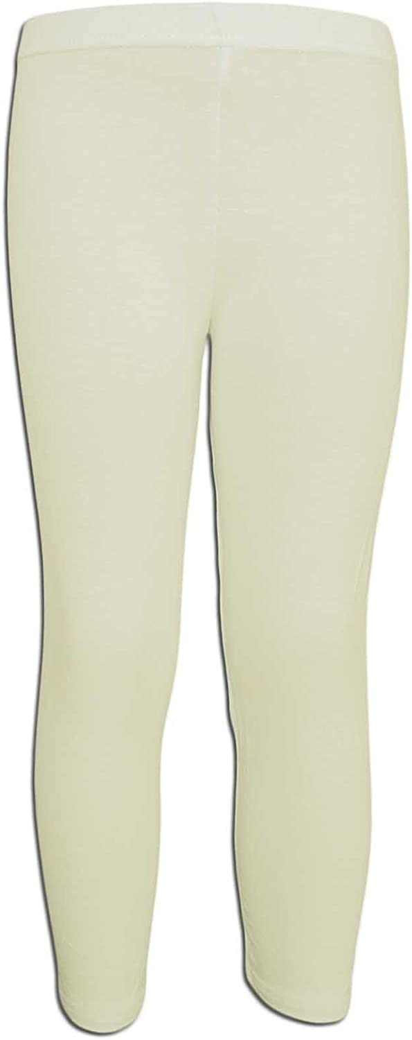 Deux par Deux Girls Yellow Capri Leggings Flamingo Edit Sizes 5-12