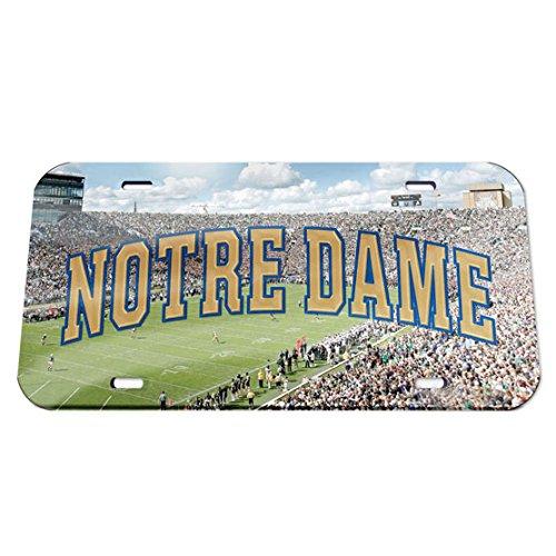 WinCraft NCAA Notre Dame Fighting Irish Crystal Mirror Football License Plate, Team Color, One Size (Fighting Cut Ncaa Irish Precision)