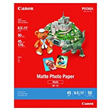 Canon MP-101 8.5-Inch x 11-Inch Matte Photo Paper (50 Sheets/Package)