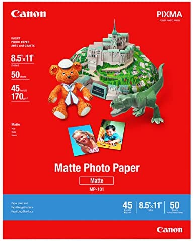 Canon 7981A004 Photo Paper Plus, Matte, 8-1/2 x 11 (Pack of fifty Sheets)