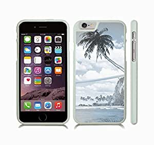 Case Cover For Apple Iphone 6 Plus 5.5 Inch with Tropical Beach, Photomanipulation Snap-on Cover, Hard Carrying Case (White)
