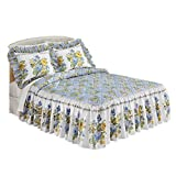 Isabelle Floral Ruffled Bedspread, Multi, Queen
